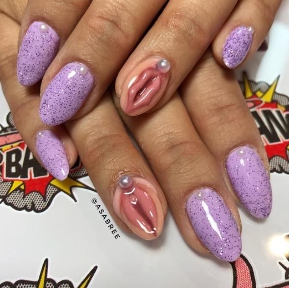 Beautiful Nails Art Wallpapers: 외음부 모양 네일아트 화제